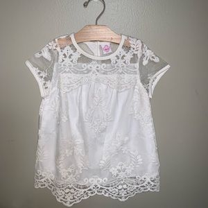 Other - New Girls White Embroidery Top